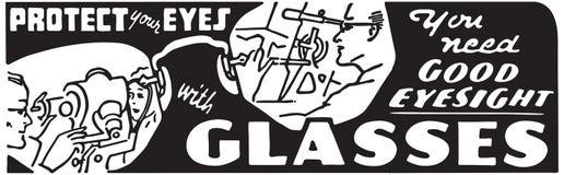 Protégez vos yeux avec des verres illustration libre de droits