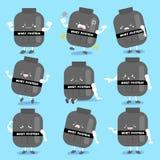 Protéine de lactalbumine mignonne de bande dessinée illustration de vecteur