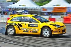 Protón R3 del coche de Rallye Imagen de archivo libre de regalías