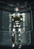 Protótipo do robô cromado ilustração royalty free