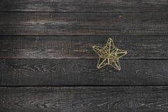 Protagonice el primer en el Año Nuevo del fondo de madera, la Navidad Imagenes de archivo
