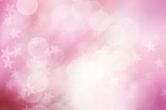Protagonice en fondo rosado y blanco, abstracto del bokeh Fotos de archivo
