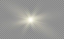 Protagonice en un fondo transparente, efecto luminoso, ejemplo explosión con las chispas Fotos de archivo