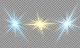 Protagonice en un fondo transparente, efecto luminoso, ejemplo explosión con las chispas Fotografía de archivo