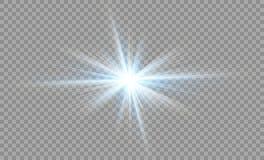 Protagonice en un fondo transparente, efecto luminoso, ejemplo explosión con las chispas Fotografía de archivo libre de regalías
