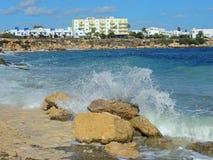 Protaras, τουρισμός, θέρετρο, ξενοδοχείο, παραλία, ταξίδι, Κύπρος Στοκ εικόνα με δικαίωμα ελεύθερης χρήσης