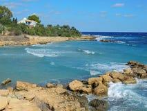 Protaras, τουρισμός, θέρετρο, ξενοδοχείο, παραλία, ταξίδι, Κύπρος Στοκ Εικόνα