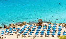 PROTARAS, КИПР, пляж Konnos стоковое фото