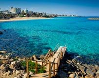 Protaras beach looking towards famagusta Stock Image