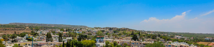 Protaras, Chipre 19 de junho de 2015: Vista panorâmica larga ao cit Foto de Stock Royalty Free