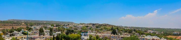 Protaras, Cyprus 19 juni, 2015: Breed panorama aan CIT Royalty-vrije Stock Foto