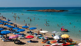 Beach at Protaras , Cyprus Royalty Free Stock Image