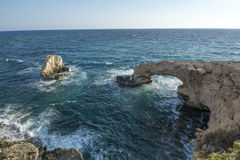 Protaras landscape and love bridge Meditarian sea,Cyprus Royalty Free Stock Photos