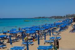 Protaras strand, Cypern Royaltyfri Bild