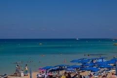 Protaras strand, Cypern Fotografering för Bildbyråer