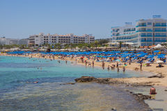 Protaras-Strand, Zypern Lizenzfreie Stockfotografie