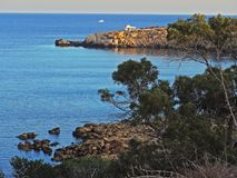 Protaras, turismo, centro turístico, hotel, playa, viaje, Chipre Fotografía de archivo libre de regalías