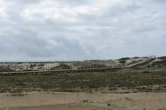Proteção das Dunas_Protection delle dune Fotografie Stock Libere da Diritti