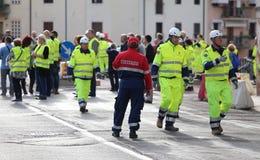 Proteção civil durante o exercício internacional fotografia de stock