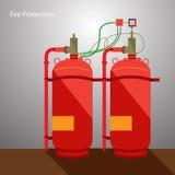 Proteção contra incêndios Foto de Stock