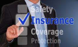 Proteção da cobertura da segurança do seguro Fotografia de Stock