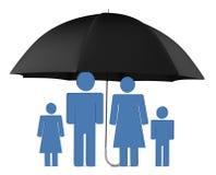 Proteção da família Imagens de Stock Royalty Free