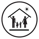 Proteção da família na casa 3 Foto de Stock