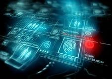Proteção da identificação da segurança de Digitas Foto de Stock