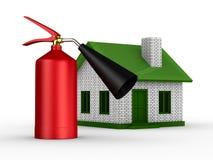 proteção da Incêndio-prevenção da casa ilustração do vetor