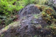 Proteção da parede da rocha Foto de Stock
