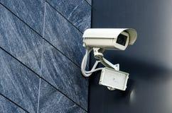 Proteção da propriedade privada da câmara de segurança Fotografia de Stock