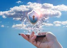 Proteção da transmissão de dados  Fotos de Stock Royalty Free