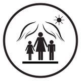 Proteção das mães com crianças 2 Imagem de Stock