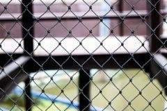 Proteção de aço encerada da malha do canal preto Fotografia de Stock Royalty Free