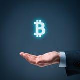Proteção de Bitcoin imagem de stock