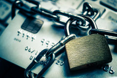 Proteção de dados do cartão de crédito fotografia de stock