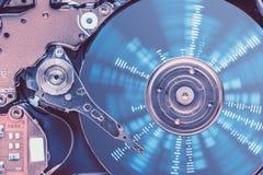 Proteção de dados do disco rígido Fotos de Stock