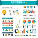 Proteção de dados Infographics Foto de Stock Royalty Free