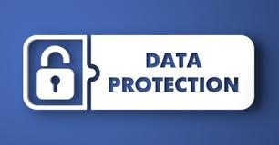 Proteção de dados no azul no estilo liso do projeto. ilustração royalty free
