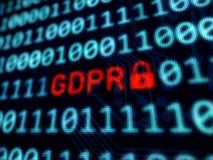 Proteção de dados pessoal GDPR Foto de Stock Royalty Free