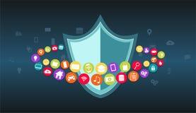 Proteção de dados Segurança dos dados Antivirus Imagem de Stock Royalty Free