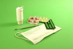 Proteção de encontro a uma gripe Fotos de Stock Royalty Free