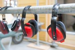 Proteção de orelha para o ruído foto de stock royalty free