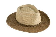 Proteção de Sun - chapéu de palha Imagem de Stock Royalty Free