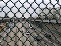 proteção do Anti-suicídio na ponte Fotos de Stock