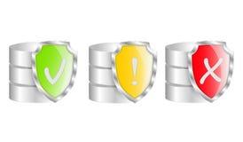Proteção do base de dados Foto de Stock
