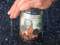 Proteção do dinheiro Fotografia de Stock Royalty Free