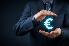 Proteção do Euro Fotografia de Stock Royalty Free