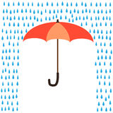 Proteção do guarda-chuva da chuva Imagem de Stock