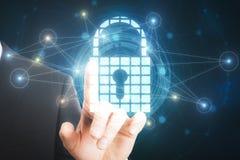 Proteção do Internet e conceito da ciência imagem de stock